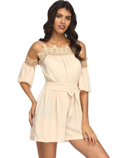 Corset Lace Apricot Playsuit