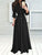 Casual Solid Tie Waist Slim Buttons Long Sleeve Maxi Dress
