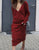 Casual Loose V Neck Long Sleeve Knit Long Dress