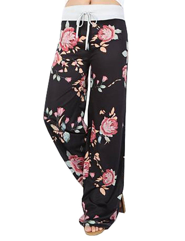 Loose Home Casual Floral Printed Pants - Fancyqube