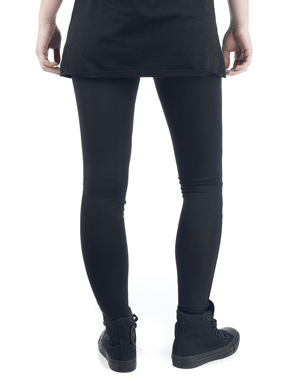 Mesh Stitching Tight Black Pants - Fancyqube