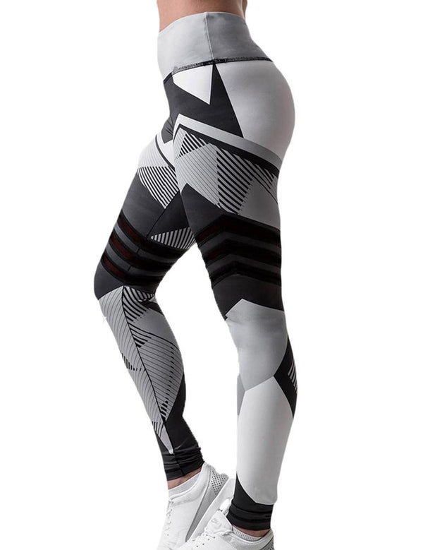 Geometric Print Yoga Pants - Fancyqube