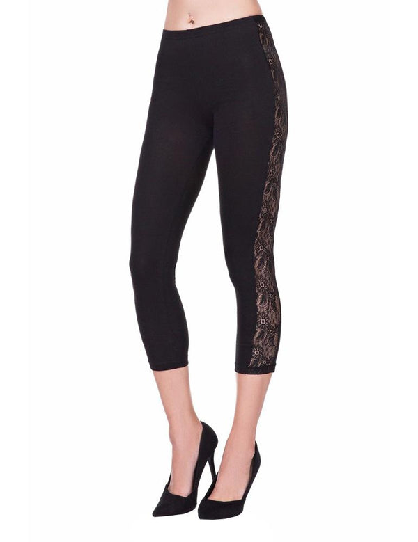 Lace stitching yoga pants - Fancyqube