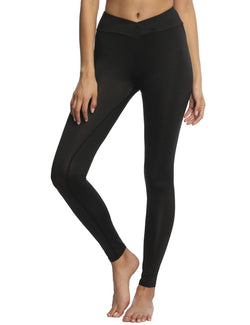 Sweat-Absorbent Slim Hips Pure Color Yoga Sports Pants - Fancyqube