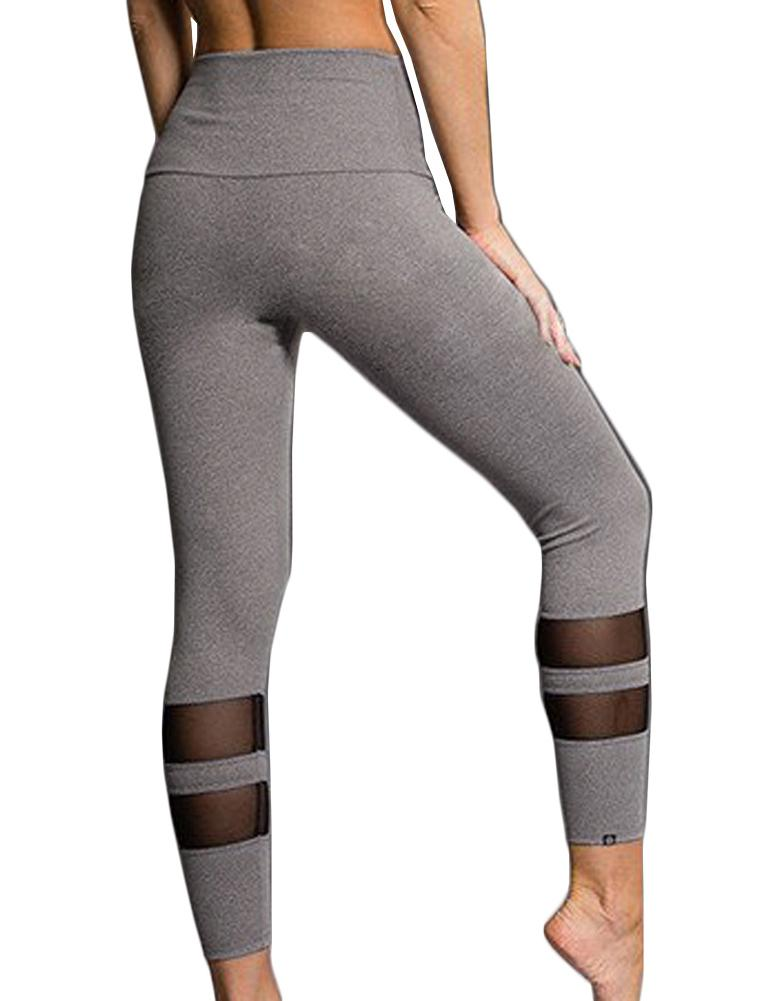 Double loop mesh mosaic yoga pants - Fancyqube