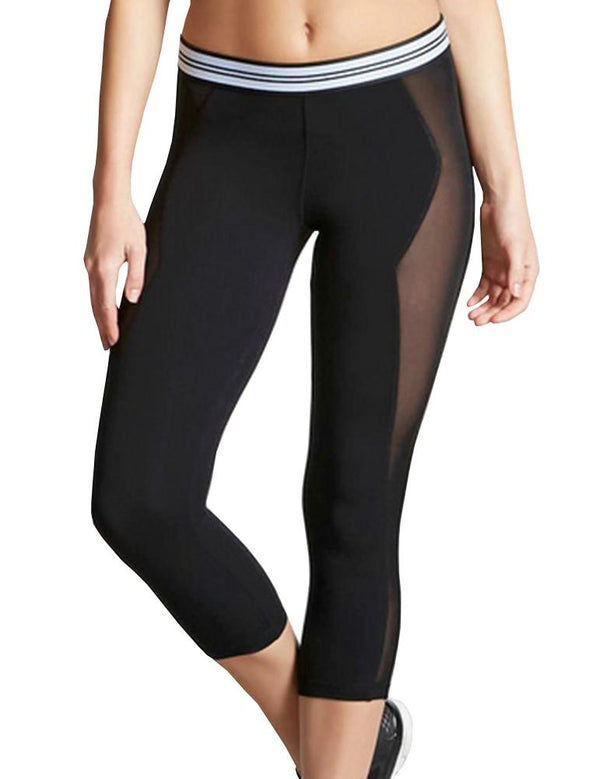 Stitching mesh yoga pants - Fancyqube