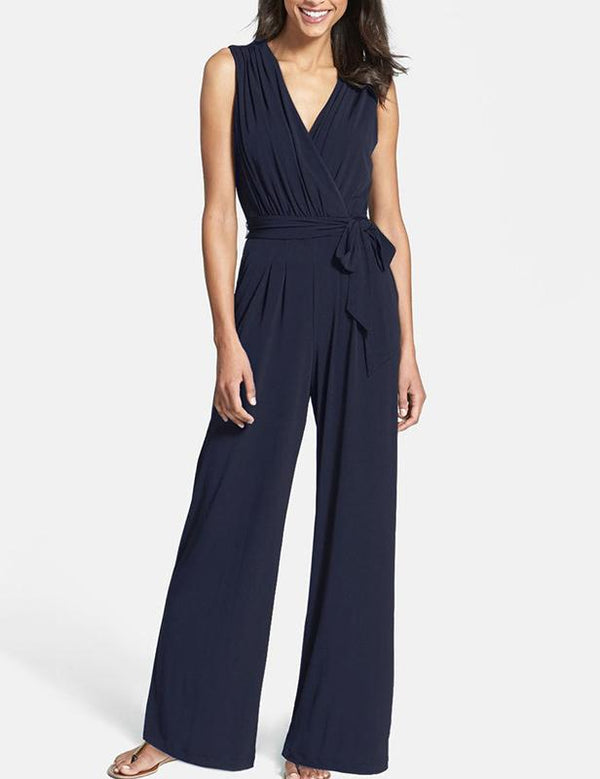 Fashion V-Neck Sleeveless Jumpsuit