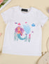 Toddler Kids Mermaid Print Birthday Pageant Casual Cute T-Shirt