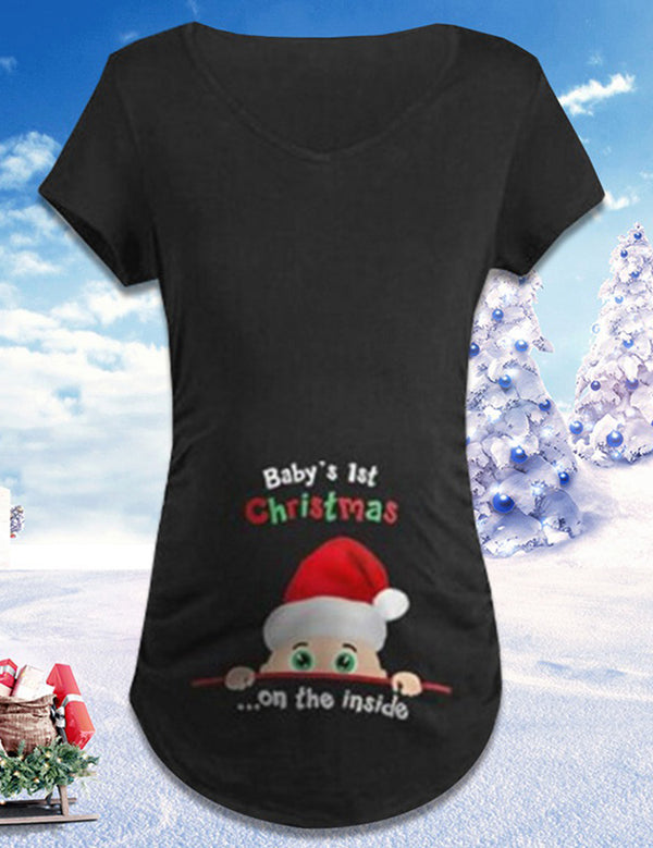 christmas maternity t shirt
