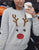 elk printed ugly christmas sweater