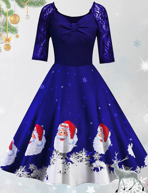santa claus lace costumes dress