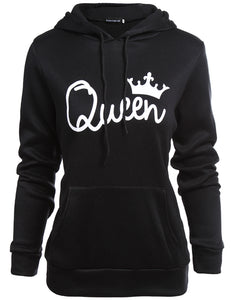 couple matching queen printed hoodie