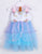 Baby Girls' Unicorn Pattern Kids Birthday Christmas Party Mesh Dress