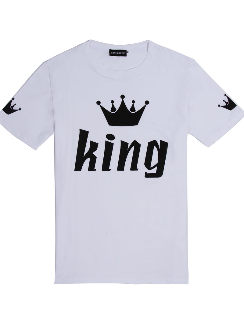 king printed couple matching shirt