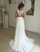 split chiffon wedding dress
