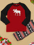 New Red Family Christmas Deer Pajamas Adult Kids Parent-Child Outfit