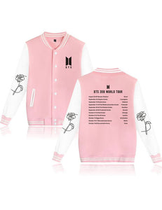 New Long Sleeve Printed Buttons Pockets Baseball Uniform Sweatshirt