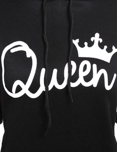 queen crowm printed sweatshirt