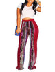 sequins patchwork pants
