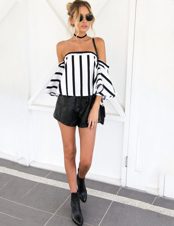 striped blouse womens
