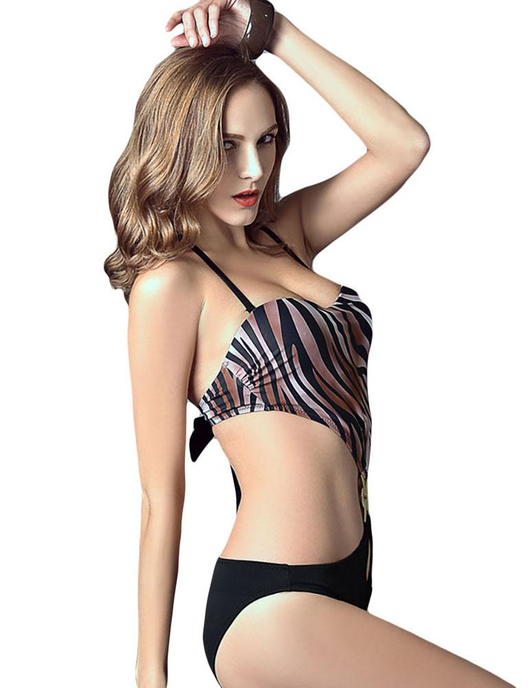Heart-Shaped Wave Pattern Super Sexy One-Piece Swimsuit - Fancyqube