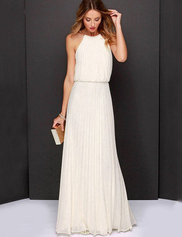 all white maxi dress