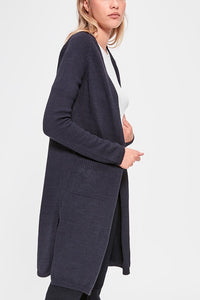 Pockets knit cardigan- navy