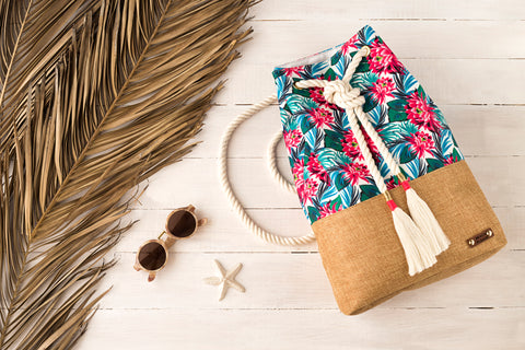 Drawstring packbag- Floral