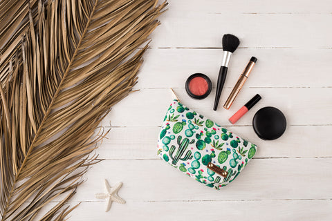 Makeup bag- Cactus print