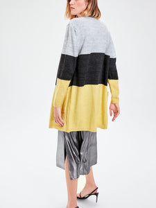 Color blocks knit cardigan