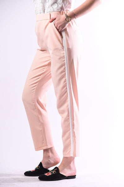 Light pink Side Striped Trousers