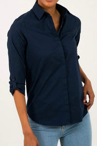 Cotton shirt- navy