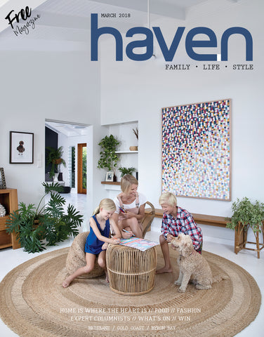 Yorkelee featured in Haven interiors homewares magazine as leading online wall art prints supplier Australia
