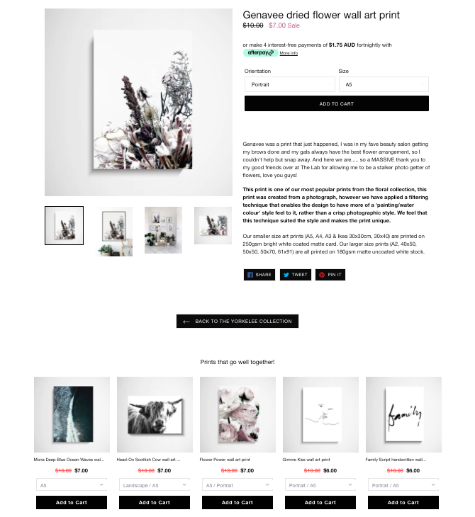 flower wall art print product suggestions Yorkelee blog post