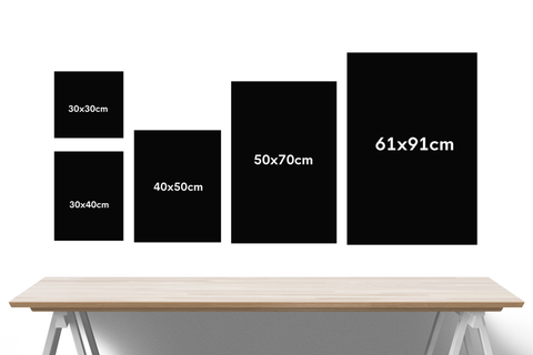 print and frame size comparison chart