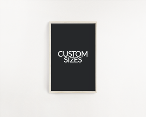 wall art print sizes by Yorkelee Prints Australia