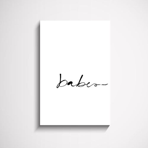 Babes hand scripted wall art print Wall Art Print - Yorkelee Prints Australia