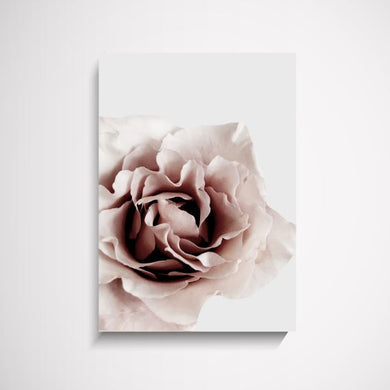 Catherine grey and pink flower wall art print Wall Art Print - Yorkelee Prints Australia