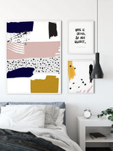 Dash abstract modern wall art print Wall Art Print - Yorkelee Prints Australia