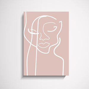 Face Off blush illustration wall art print Wall Art Print - Yorkelee Prints Australia