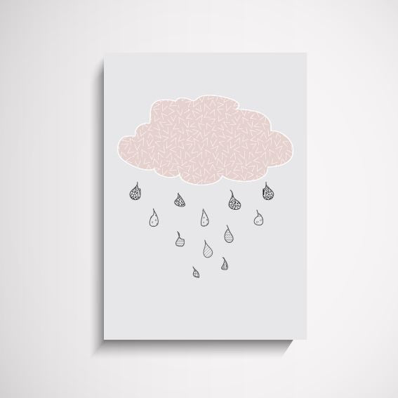Happy Clouds Kids Nursery wall art print Wall Art Print - Yorkelee Prints Australia