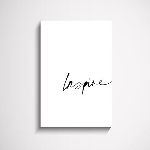 Inspire hand scripted wall art print Wall Art Print - Yorkelee Prints Australia