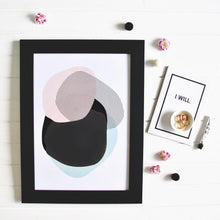 Pastel Punch Circle Interior Artwork Print Wall Art Print - Yorkelee Prints Australia