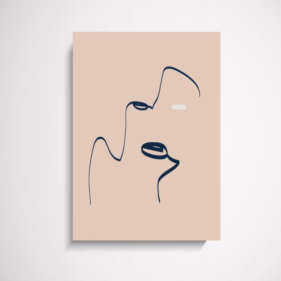 Remy abstract illustration wall art print Wall Art Print - Yorkelee Prints Australia