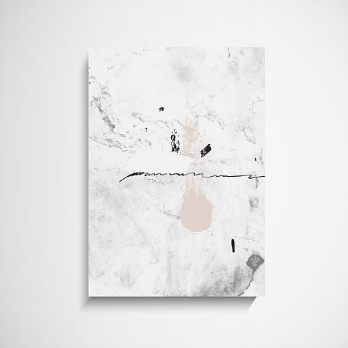 Simplicity Abstract grey, pink art print Wall Art Print - Yorkelee Prints Australia