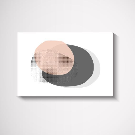 Sweet Pastel Circle Interior Artwork Print Wall Art Print - Yorkelee Prints Australia