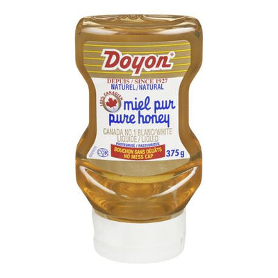 Doyon, Pure Natural Honey, Liquid White, Upside-down Squeeze, 375g - Larry The Liquidator