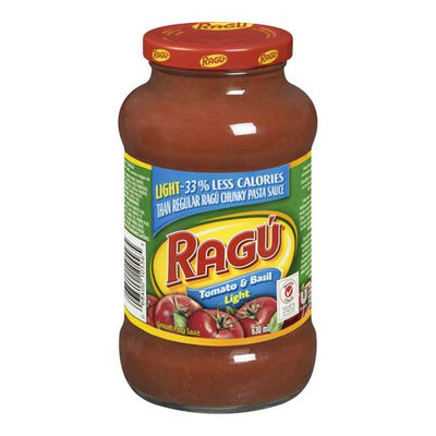 Ragu Rag Tomato & Basil Light, 630ml - Larry The Liquidator