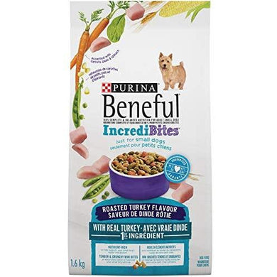 Beneful Incredibites Dry Dog Food for Small Dogs, Roasted Turkey 1.6 kg - Larry The Liquidator
