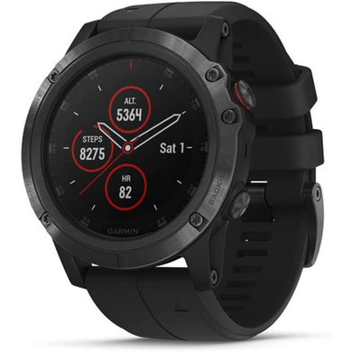 Garmin fēnix 5X Plus Ultimate Multisport Watch with Music, Maps and Garmin Pay Sapphire, Black with Black Band - Larry The Liquidator